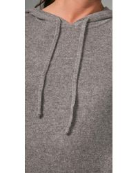 Vince | Gray Jumbo Cashmere Hoodie Sweater | Lyst