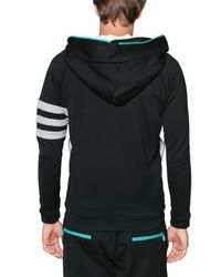 Y-3 - Black Zipped Hooded Y3 Fleece Sweatshirt for Men - Lyst