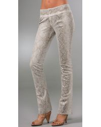 Alice + Olivia | Multicolor Faux Snakeskin Pants | Lyst