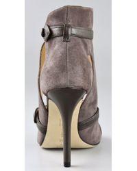 Camilla Skovgaard - Gray T Strap Corset Suede Sandals - Lyst