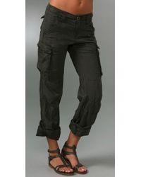 Free People - Green Cargo Pants - Lyst
