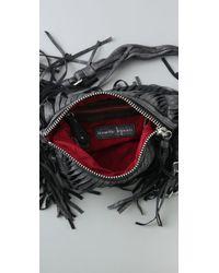 Nanette Lepore | Black Twisted Fringe Group Leather Mini Bag | Lyst