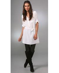 Plastic Island | White Noir Belted Dress | Lyst