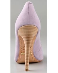 Schutz - Purple High Heel Suede Pumps - Lyst