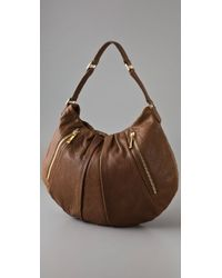 Tory Burch Brown Steffi Leather Hobo