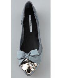 Vera Wang Lavender - Gray Gillian Jewel Flats - Lyst