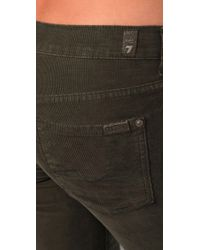 7 For All Mankind | Green Boot Cut Corduroy Pants | Lyst