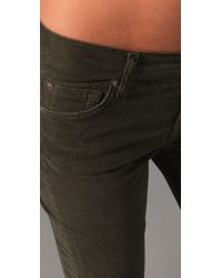 7 For All Mankind - Green Boot Cut Corduroy Pants - Lyst