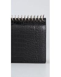 Alexander Wang | Black Amber Note Book Moc Croc Clutch | Lyst