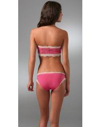 Calvin Klein - Pink Bandeau Bra with Lace - Lyst
