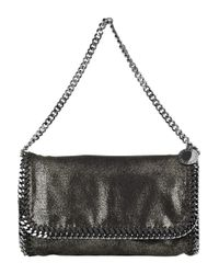 Stella McCartney | Metallic Falabella Chain-trimmed Clutch | Lyst