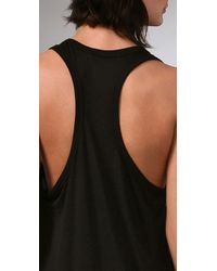 T By Alexander Wang - Black Classic Tank Dress with Pocket - Lyst