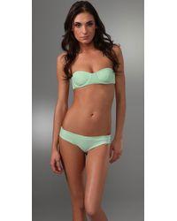 Tori Praver Swimwear | Green Hoku Bikini Top | Lyst