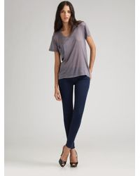 7 For All Mankind | Black Gwenevere Skinny Jeans | Lyst