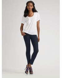 7 For All Mankind | Blue Petite Lexie Gwenevere Jeans | Lyst