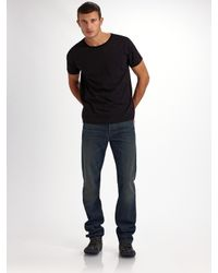 7 For All Mankind | Blue Brea Tar Straight-leg Jeans for Men | Lyst
