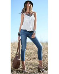 7 For All Mankind - Blue Roxanne Flood Jeans - Lyst