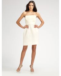 Amsale | White Strapless Tiered Radzimir Dress | Lyst