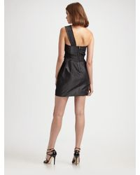 BCBGMAXAZRIA | Black Floral Appliqué One Shoulder Dress | Lyst