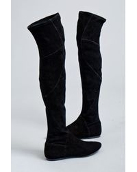 Belle By Sigerson Morrison | Black Over The Knee Stretch Boot | Lyst