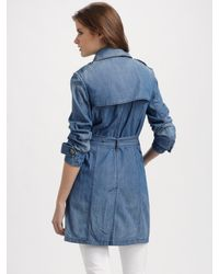 Burberry Brit Blue Denim Trench Coat