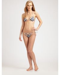 Burberry Brit | Natural Check-print Bikini Bottom | Lyst