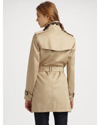 Burberry Brit - Natural Double-breasted Trench Coat - Lyst
