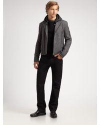 Calvin Klein | Gray Tweed Motorcycle Jacket for Men | Lyst