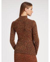 Chloé   Brown Tile Print Ruffled Skirt   Lyst