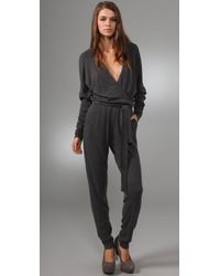 Club Monaco | Gray Erin Sweater Jumpsuit | Lyst