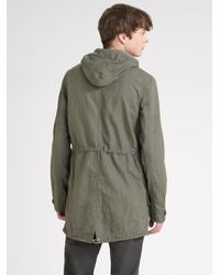 Converse - Green Hooded Dobby Jacket for Men - Lyst