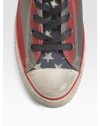 Converse - Red John Varvatos Painted Canvas High-tops for Men - Lyst