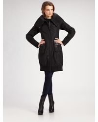 Creenstone | Black Double-breasted Puffer Coat | Lyst