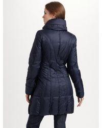 Creenstone - Blue Pillow Collar Puffer Coat - Lyst