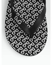 Dolce & Gabbana | Black Logo Flip Flops for Men | Lyst