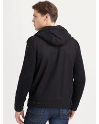 DIESEL - Black Chunky Knit Cardigan for Men - Lyst