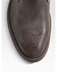 DIESEL - Natural Plucky Ankle Boots/suede for Men - Lyst