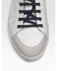 Dior Homme - White Contrast-trim Leather Sneakers for Men - Lyst