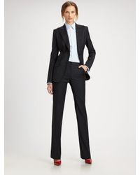 Dolce & Gabbana | Blue Wool Pinstripe Pants | Lyst