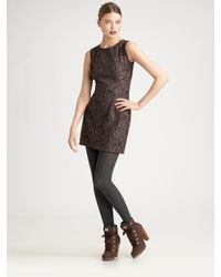 Dolce & Gabbana | Brown Fitted Lace Dress | Lyst