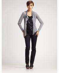 Elie Tahari | Black Stretch-knit Dress Pants | Lyst