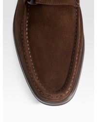 Ferragamo | Brown Liven Suede Loafers for Men | Lyst