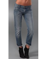 Goldsign | Blue His Jean Boyfriend Jeans | Lyst