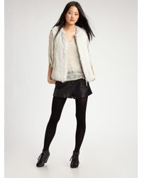 Joie | Black Denver Leather Shorts | Lyst
