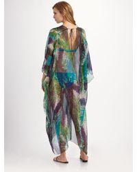 La Perla - Purple Snake-print Caftan Coverup - Lyst