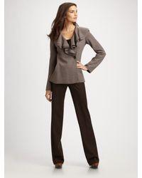 Lafayette 148 New York | Brown Stretch Wool Menswear Pants | Lyst