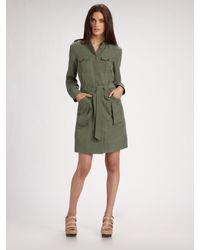 Marc By Marc Jacobs | Green Patton Silk Trenchcoat | Lyst