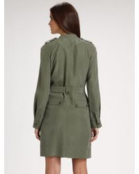 Marc By Marc Jacobs - Green Patton Silk Trenchcoat - Lyst