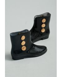 Melissa + Vivienne Westwood Anglomania | Black Rubber Ankle Boot | Lyst