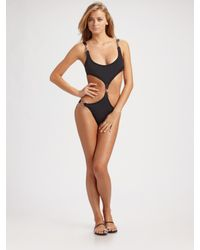 Michael Kors | Black One-piece Monokini Swimsuit | Lyst